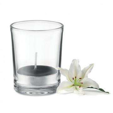 Glas met theelichtje